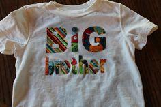 Big Brother shirt sibling shirt little brother shirt by BeesBabyTs, $25.00