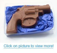 Solid Milk Chocolate Christmas Valentine's Day Gift Gun #Solid #Milk #Chocolate #Christmas #Valentines #Day #Gift #Gun