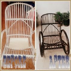 Recycling chair. Paint it , love it!!