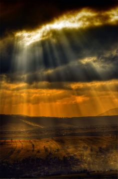 "Beautiful rays of sunshine / ""Let light shine out of darkness... to give us the light of the knowledge of the glory of God... ""  ~ 2 Corinthians 4:6"