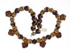 Ashanti Mask Pendants, Powder Glass Trade Beads #1333 | Chains | Jewelry — Deco Art Africa - Decorative African Art