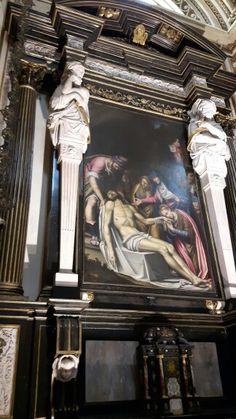 Pietà  di Simone Peterzano. 1591