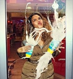Glass Door. I can't stop laughing!