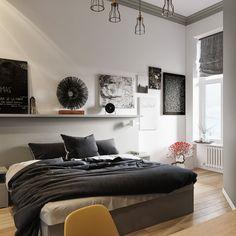 спальня в скандинавском стиле on Behance