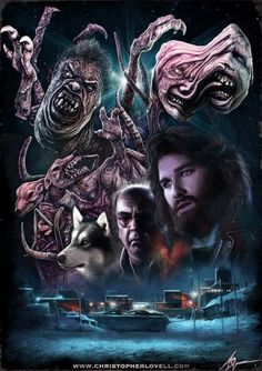 Christopher Lovell's The Thing by John Carpenter. I bought this shirt fir Doug, Bottin's work in this film is 1 of many inspirations that got us into Spfx Makeup -Susassin Horror Icons, Horror Movie Posters, Movie Poster Art, Arte Horror, Horror Art, American Horror Story, Art Vintage, Vintage Movies, Kino Film