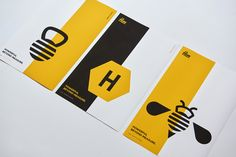 Steve Wolf Designs partnered with Mara Truskoloski who owns a local holistic fitness gym in Austin, TX called The Hive to create a visual identity system that spanned everything from identity and illustration to custom patterns and icons. Wolf Design, Bee Design, Hive Logo, Steve Wolf, Honey Packaging, Bee Illustration, Logo Creation, Bee Art, Print Layout