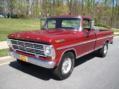68 ford pickup - the truck I learned to drive on, no power steering, no power brakes, and manual transmission Classic Ford Trucks, Panel Truck, Ford F Series, Learning To Drive, Car Wheels, Manual Transmission, Old Trucks, Vehicles, Mountain