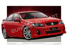 Holden VE Commodore art prints, new and exclusive from Unique Autoart. These awesome prints make great Holden gifts for the true Holden enthusiast. Car Prints, Canvas Prints, Holden Australia, Hologram Stickers, Australian Cars, Holden Commodore, Drawing Frames, Automotive Art, Canvas Frame