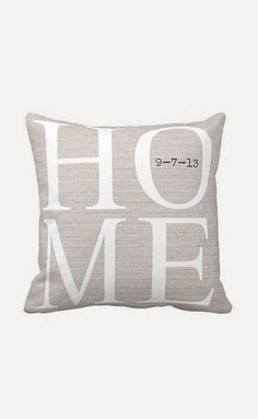 Pillow Cover Housewarming Gift Home even has our wedding anniversary :) perfectly made for us!!!