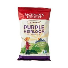 Jackson's Honest Purple Heirloom Potato Chips (12x5 OZ)