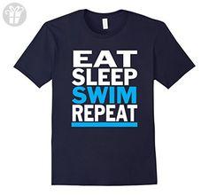 Men's Eat Sleep Swim Repeat Funny Swimming T-Shirt Small Navy (*Amazon Partner-Link)