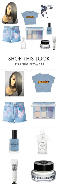 """Blue Boo"" by ejadet on Polyvore featuring Forte Couture, Anastasia Beverly Hills, Lauren B. Beauty, Diptyque and Bobbi Brown Cosmetics"