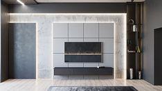 88 veces he visto estas agraciadas muebles minimalistas. Apartment Projects, Apartment Interior, Lcd Units, Modern Residential Architecture, Living Tv, Modern Tv Wall Units, Living Room Tv Unit Designs, Tv Wall Design, Decoration