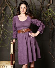 Charlie Revised in Plum Matilda Jane Women's Clothing