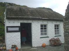 Glencolmcille Folk Village. Fisherman's cottage (notice the lobster pots under the windows).