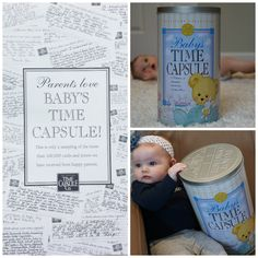 Parents rave about this Baby Time Capsule as a perfect baby shower gift. Get it today at www.timecapsule.com. Open it in 20 years and reminisce about what life was like when your baby was born.