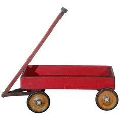 Little Red Wagon Antique Toys, Vintage Toys, Toy Wagon, Little Red Wagon, Red Riding Hood, Old Toys, Good Old, The Originals, Antiques