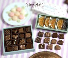 Chocolates by Nunu's House for miniature dollhouse bakery.