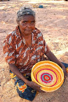 Tjanpi Desert Weavers - beautiful, traditional technique and contemporary styling. Alice Springs, Central Australia.