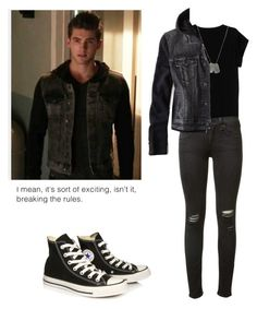 Theo Reaken - tw / teen wolf by shadyannon on Polyvore featuring Isabel Marant, American Eagle Outfitters, rag & bone, Converse and Dsquared2