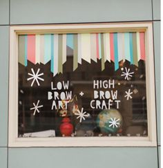 cute shop window - washi tape border + lettering