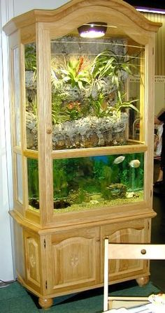 You have fish tank for indoor that's mostly called aquarium. People keep the fish and aquatic creatures in this place . Read Awesome Aquascaping Ideas You Will Totally Love Aquariums Super, Amazing Aquariums, Tanked Aquariums, Aquascaping, Aquarium Stand, Aquarium Fish, Fish Tank Terrarium, Terrarium Diy, Aquarium Design