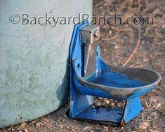 Pressure waterer on homemade hog waterer. Homestead Farm, Homestead Gardens, Farm Gardens,