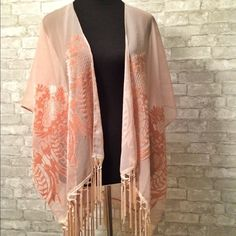 Sheer pink shawl Gorgeous and elegant sheer pink wrap or shawl in perfect condition. I am a top-rated seller and fast shipper  Accessories Scarves & Wraps