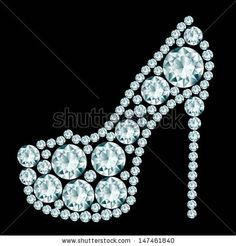 Find High Heels Shoe Made Diamonds stock images in HD and millions of other royalty-free stock photos, illustrations and vectors in the Shutterstock collection. Thousands of new, high-quality pictures added every day. Costume Jewelry Crafts, Vintage Jewelry Crafts, Jewelry Frames, Jewelry Art, Jewellery, Button Art, Button Crafts, Motifs Perler, Rhinestone Art