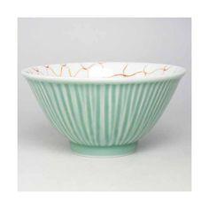 ご飯茶碗 深川製磁 笹青磁錦網目飯碗