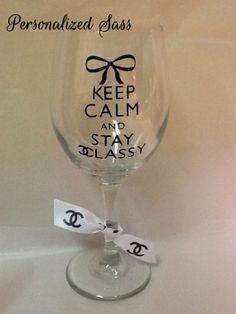Chanel Wine Glass