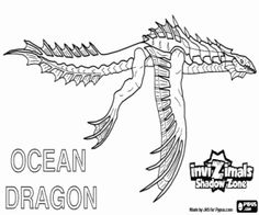 ocean dragon coloring pages - photo#14