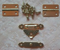 Small Brass Plated Hinge and Latch Set Box Jewel Case Catch Clasp Hasp | eBay
