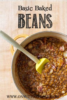 Perfect for a cookout or picnic, these baked beans go together with just 6 ingredients!