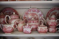 Beautiful red transferware!