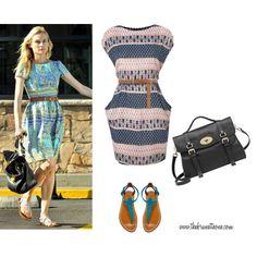 her way / my way - tribal print dress