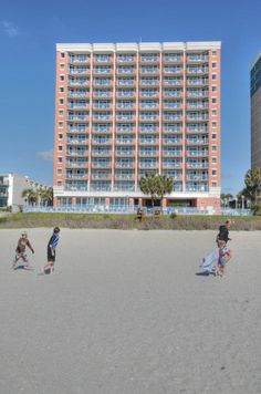 Roxanne Towers from the Beach.  Roxanne Towers Condos - Myrtle Beach,SC condos for sale.  #roxannetowers  http://www.c21theharrelsongroup.com/roxanne-towers/