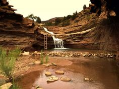 Toquerville Falls- St. George.Not much of a hike and need a 4 wheel drive but this looks like a fun stop
