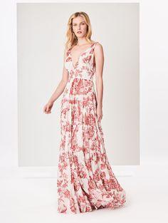 cf0001583f Oscar de la Renta Floral Toile Silk-Chiffon Dress
