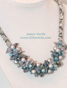 Crystal Blue Moon Necklace Kit - Glitz n Kitz