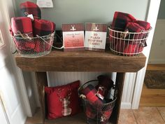 """Lumberjack first birthday party favors - flannel plaid blankets - """"so plaid you came"""""""