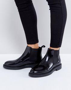 df3651ceae94 VAGABOND ALEX BLACK POLISHED LEATHER CHELSEA BOOTS - BLACK.  vagabond  shoes    Black