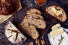French walnut bread adds a new flavor dimension to cheeses. Bread Recipe King Arthur, King Arthur Flour, Easy Bread Recipes, Cookbook Recipes, Peasant Bread, Holiday Bread, Bread Bowls, New Flavour, Food Processor Recipes