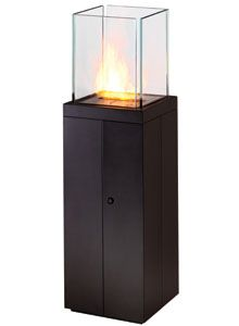 "EcoSmart Fire: Tower Modern Ventless Indoor or Outdoor Fireplace.  2500.  55"" tall"