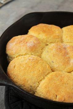 Skillet Herbed Cornbread Biscuits