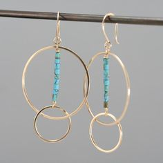Gold filled hoop earrings, turquoise and gold earrings, gold hoops, Rachel Wilder Handmade Jewelry – hoopearrings Tiny Stud Earrings, Gold Hoop Earrings, Crystal Earrings, Women's Earrings, Gold Hoops, Diamond Earrings, Feather Earrings, Turquoise Earrings, Pearl Necklace