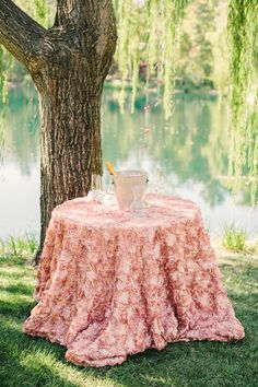 #tablecloth  Photography: Matt Edge Wedding Photography - mattedgeweddings.com  Read More: http://www.stylemepretty.com/california-weddings/2014/07/04/al-fresco-calistoga-wedding-with-layers-of-pink/