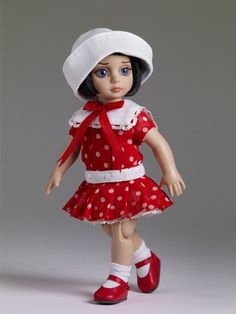 "#new from our #2013 #FallRelease: ""Dots My Dress Patsy®"" - Outfit Only $79.99 on tonnerdoll.com #dollchat  ^kv"