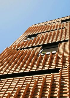 Brick Pattern House by Alireza Mashhadmirza, Tehran, Iran - 2011