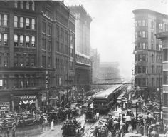The last train leaves downtown Syracuse on September 24, 1936. Photo courtesy of the Onondaga Historical Association.